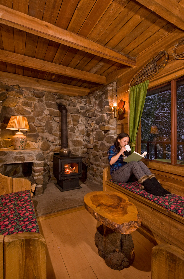 Cozy Cabins Nature Resort is 45 minutes from Vernon and open year round.
