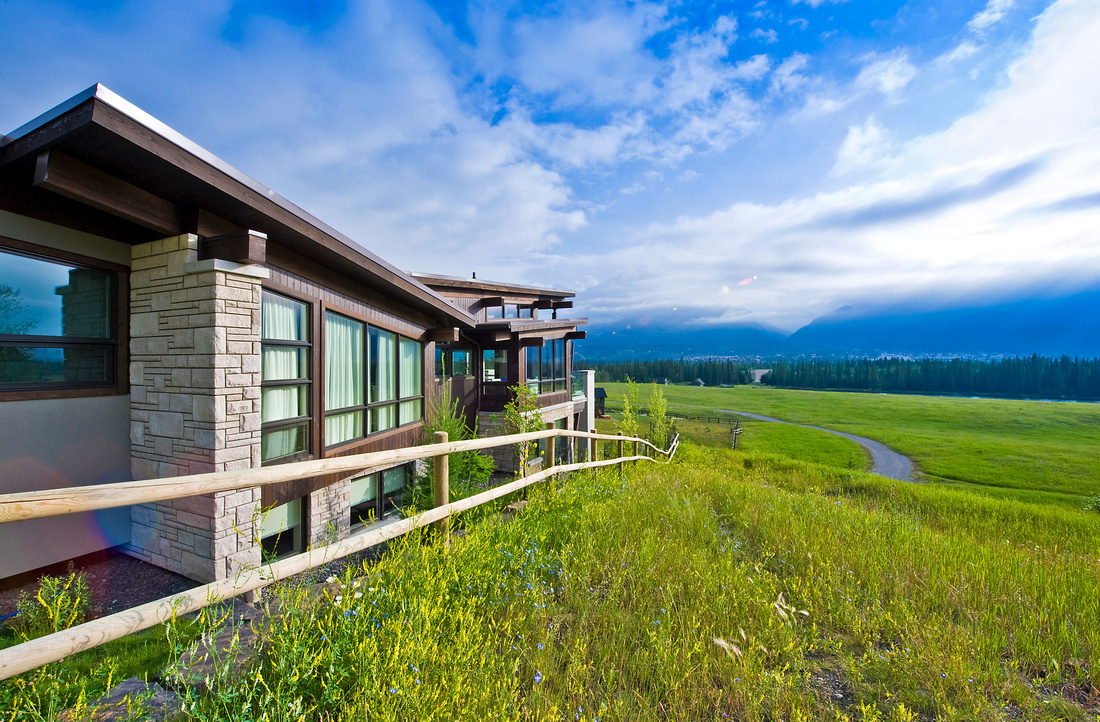 Another spectacular design by Sticks and Stones Design Group overlooking Canmore.