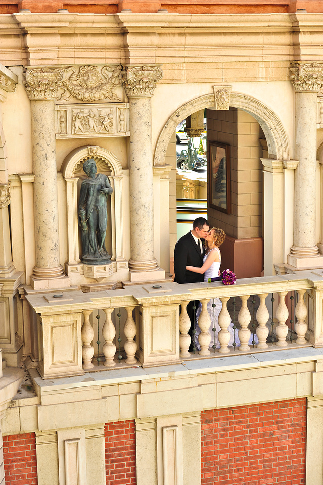 A private moment for Darren and Dana after the wedding ceremony.