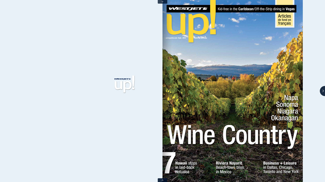 WestJet magazine cover photo 'up!'